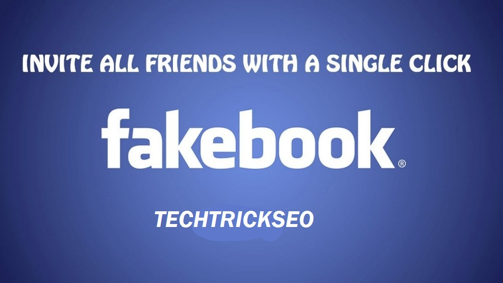Single Click Invite All Friends To Like Facebook Page