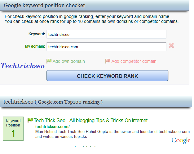 How To Check Google Keyword Ranking post