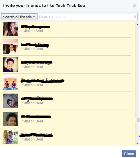 Invite All Facebook Friends With A Single Click