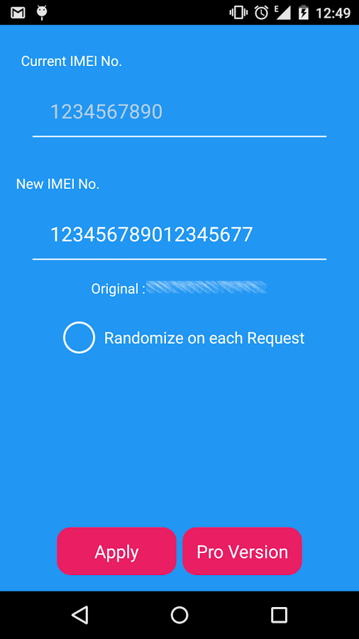 change imei in android