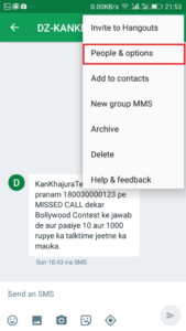 Block Spam Messages in Android Using Hangouts