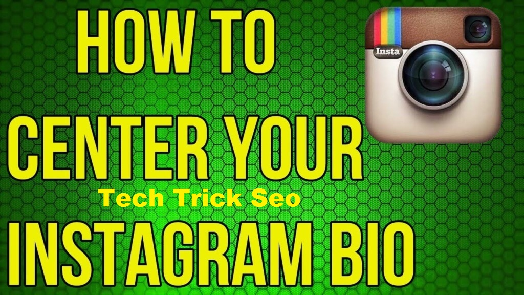 How to make centered Instagram Bio