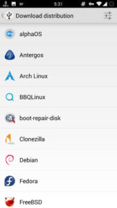 android bootable usb iso