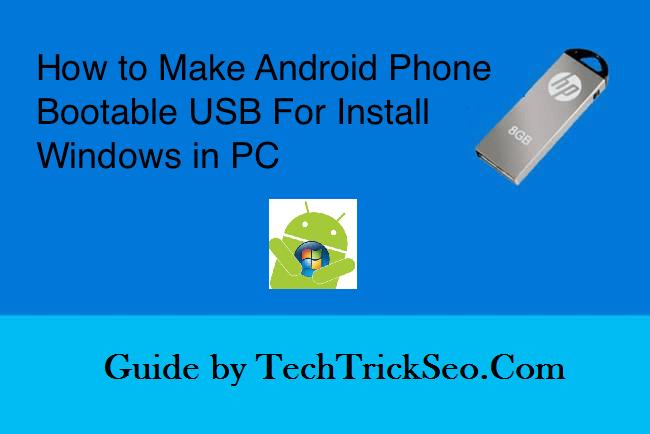 make android bootable usb drive