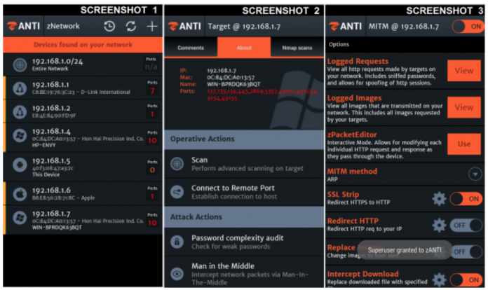 zANTI Android Hacking Apps