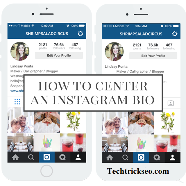 How to Center Your Instagram Bio