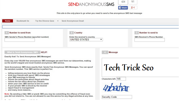 Send Free Anonymous SMS via the Web Without Any Registration