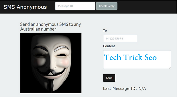 Send SMS Anonymously
