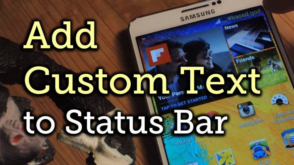 add custom text in status bar