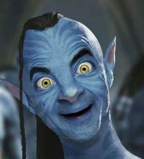 Funny-Avatar-Mr-Bean-Smiling-Photoshop-Image
