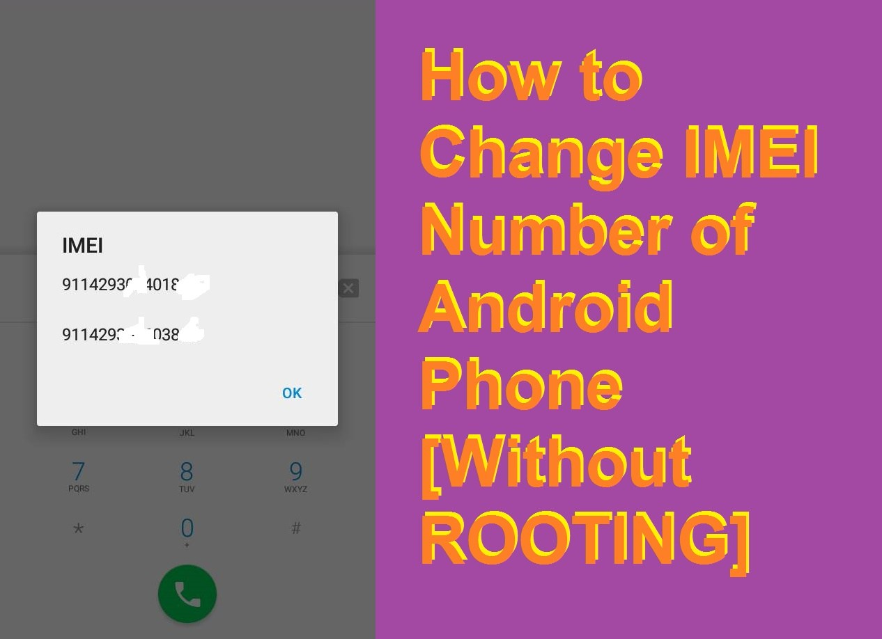 change imei number without root