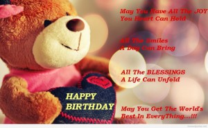 bithday whatsapp dp with teddy bear