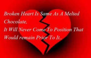 broken heart is like chocolate