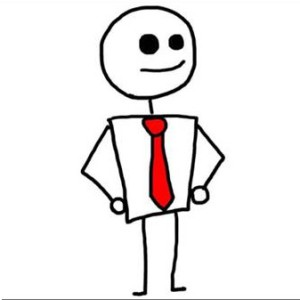 funny whatsapp animated cartoon dp of a man with red tie