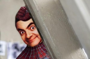 mr bean pics as spiderman whatsapp dp