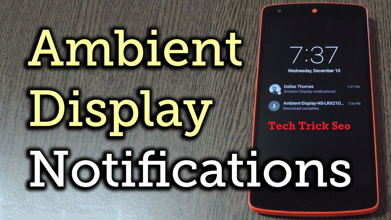 enable ambient display android