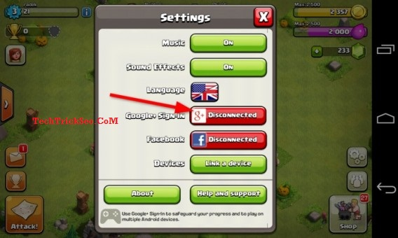 how to get the lost clash of clans village back
