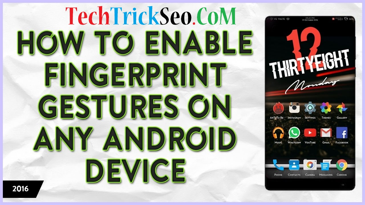 enable fingerprint gestures on android phone