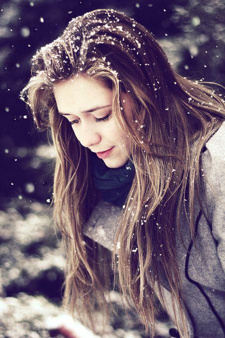 Girl Dp in snowfall