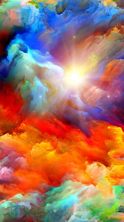 Colorful Psychedelic Wallpaper iPhone