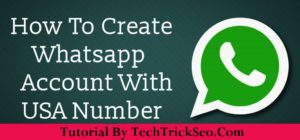 Create Whatsapp Account With USA Number