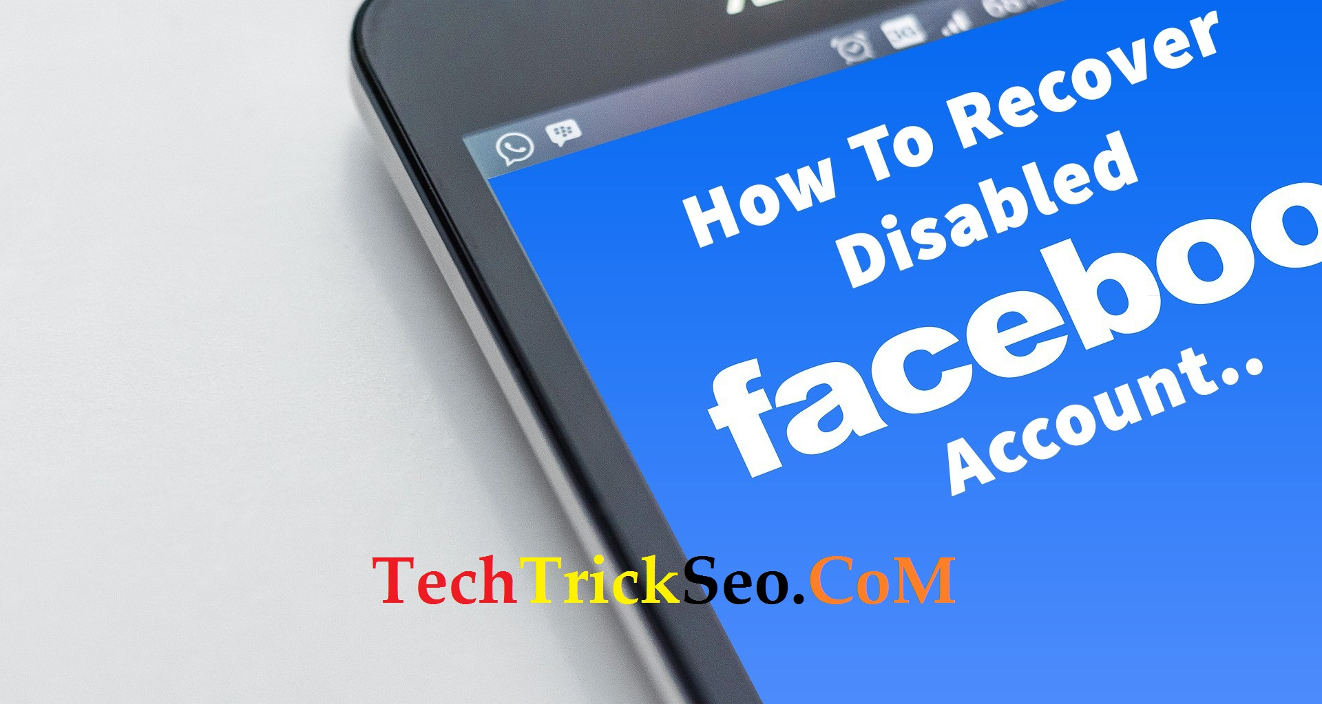 How To Reactivate Blocked Facebook Account