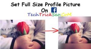 Upload Full Size DP on Facebook