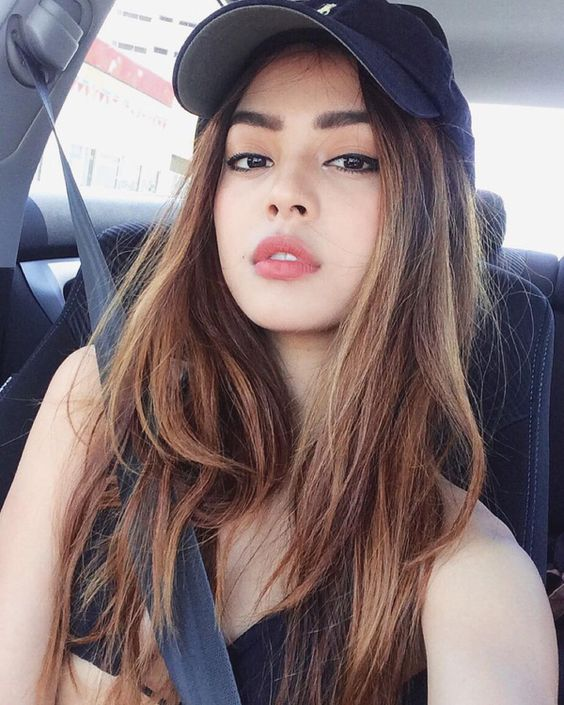 sexy girls take selfie in the car