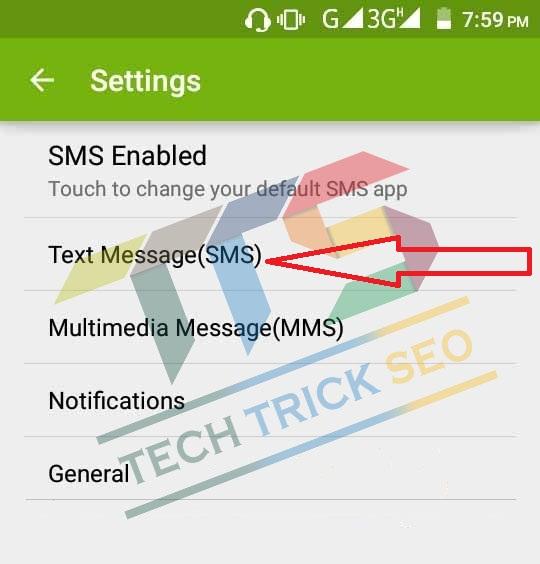 SMS Service Center Number