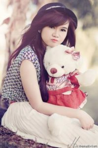 Girl DP With Teddy Bear