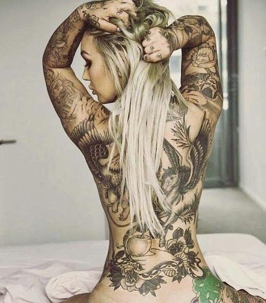 indian girl tattoo pic